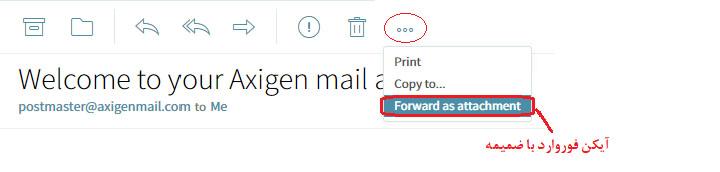 شکل 9-2 گزینه ارسال ایمیل به دیگری با فایل ضمیمه